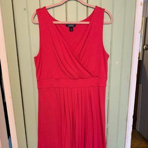 Banded Waist Fit and Flare Dress Knee Length
